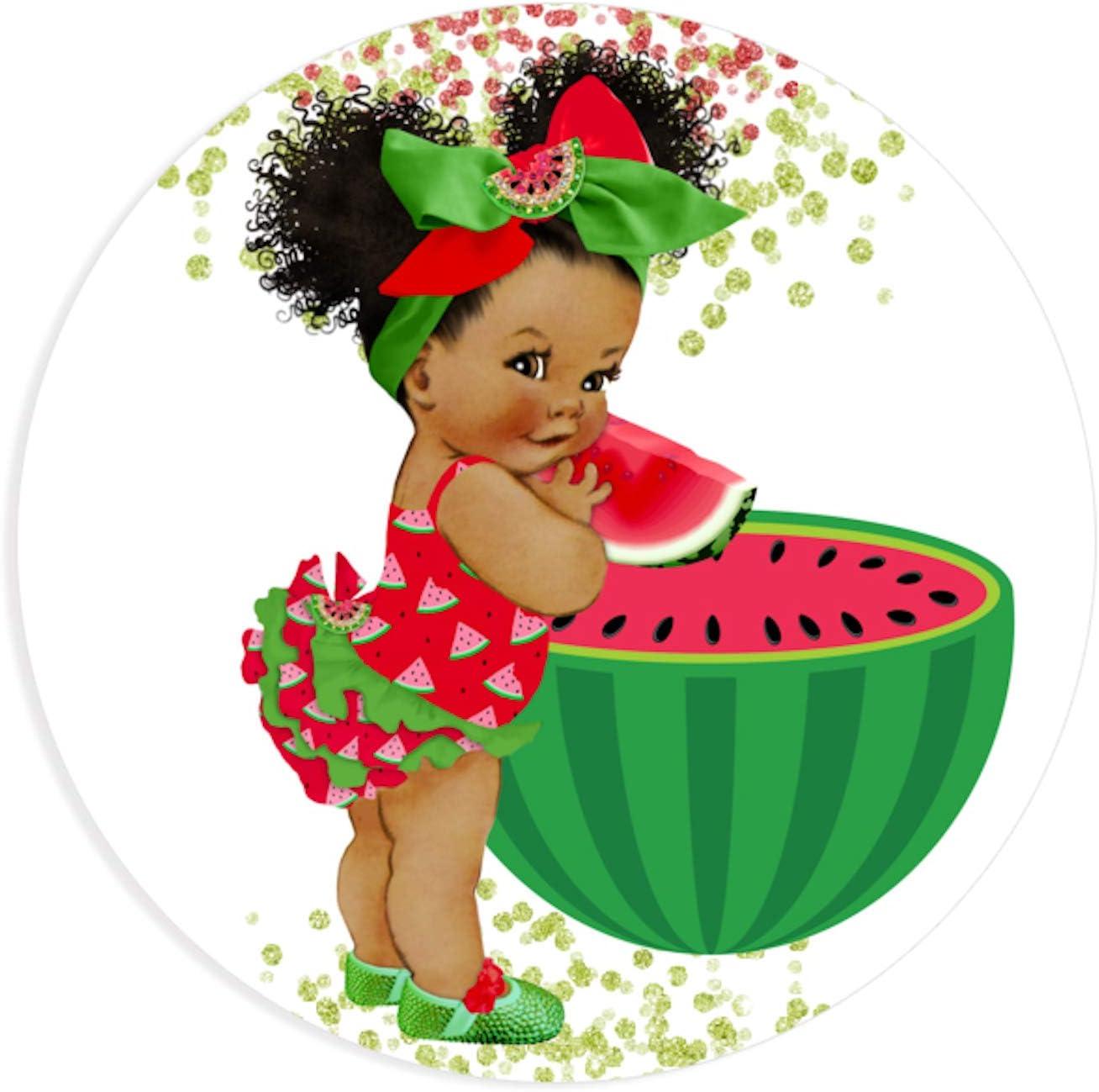 3 Watermelon Birthday Girl Centerpieces African American Birthday Table Decor
