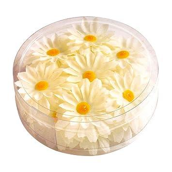 Net Toys Margeritenblüten Tischdeko Weiß Gelb 20 Stück Deko
