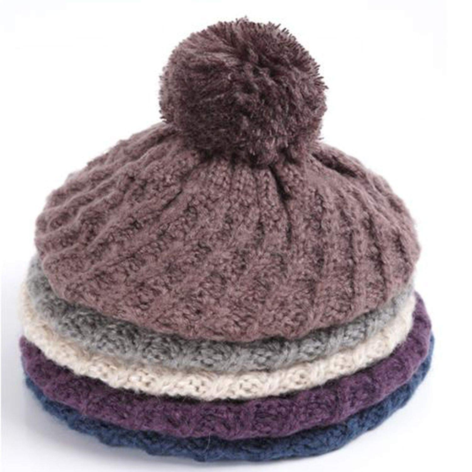 Women Hat Scarf Sets Winter Knitted Hats Fashion Elegant Casual Warm Beret Style Female Beanies