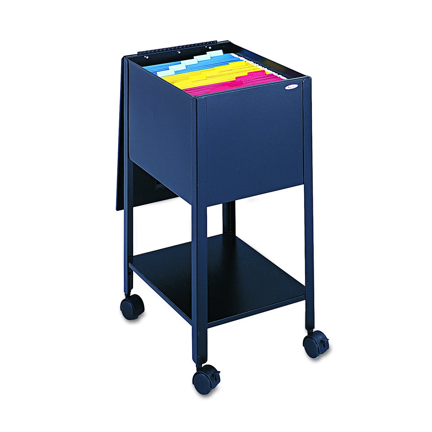 Safco Products Economy Mobile Tub File, Letter Size, Black by Safco
