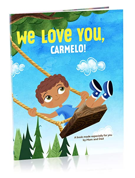 amazon com hallmark personalized books we love you boy theresa