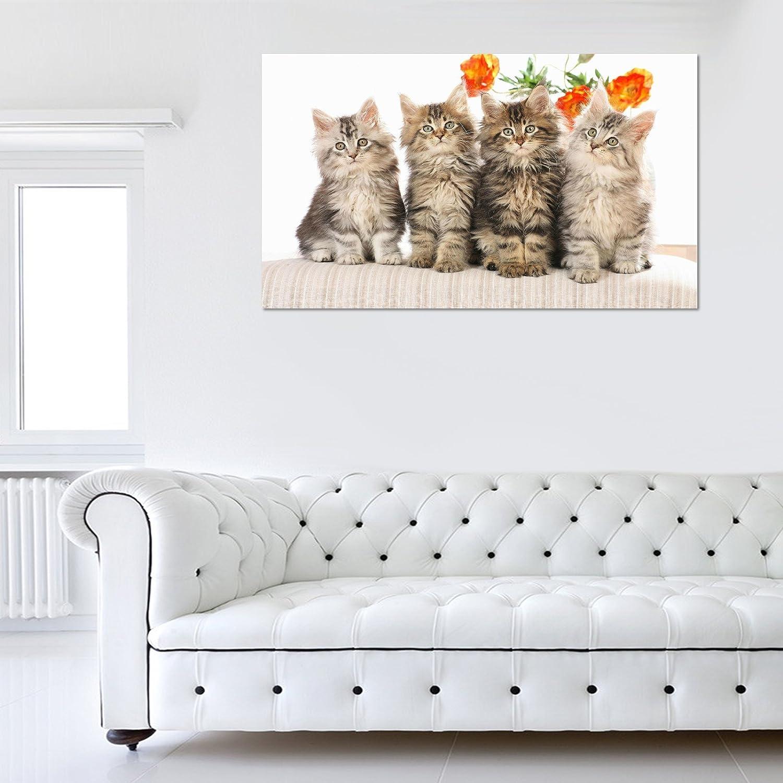 Quattro gattini su sedia varie taglie XL Classic Lite Frame 20 m o Pro Chunky 40 mm Cornice in legno e tesa alta qualit artigianale Grade