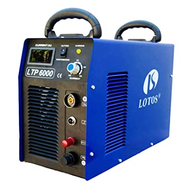 Lotos Technology LTP6000 60Amp Non-Touch Pilot Arc Plasma Cutter, Blue, 3/4