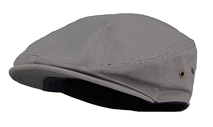 644a7e78 Men's Cotton Summer Newsboy Golf Ivy Classic Cap Hat (Gray) at ...