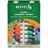 Reeves 20-Pack Acrylic Colour Tube Set, 22ml