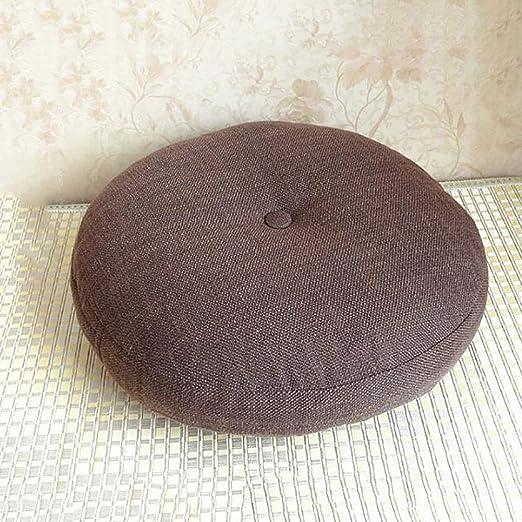 Redonda Tejido de lino de algodón Cojín del asiento, Extra ...