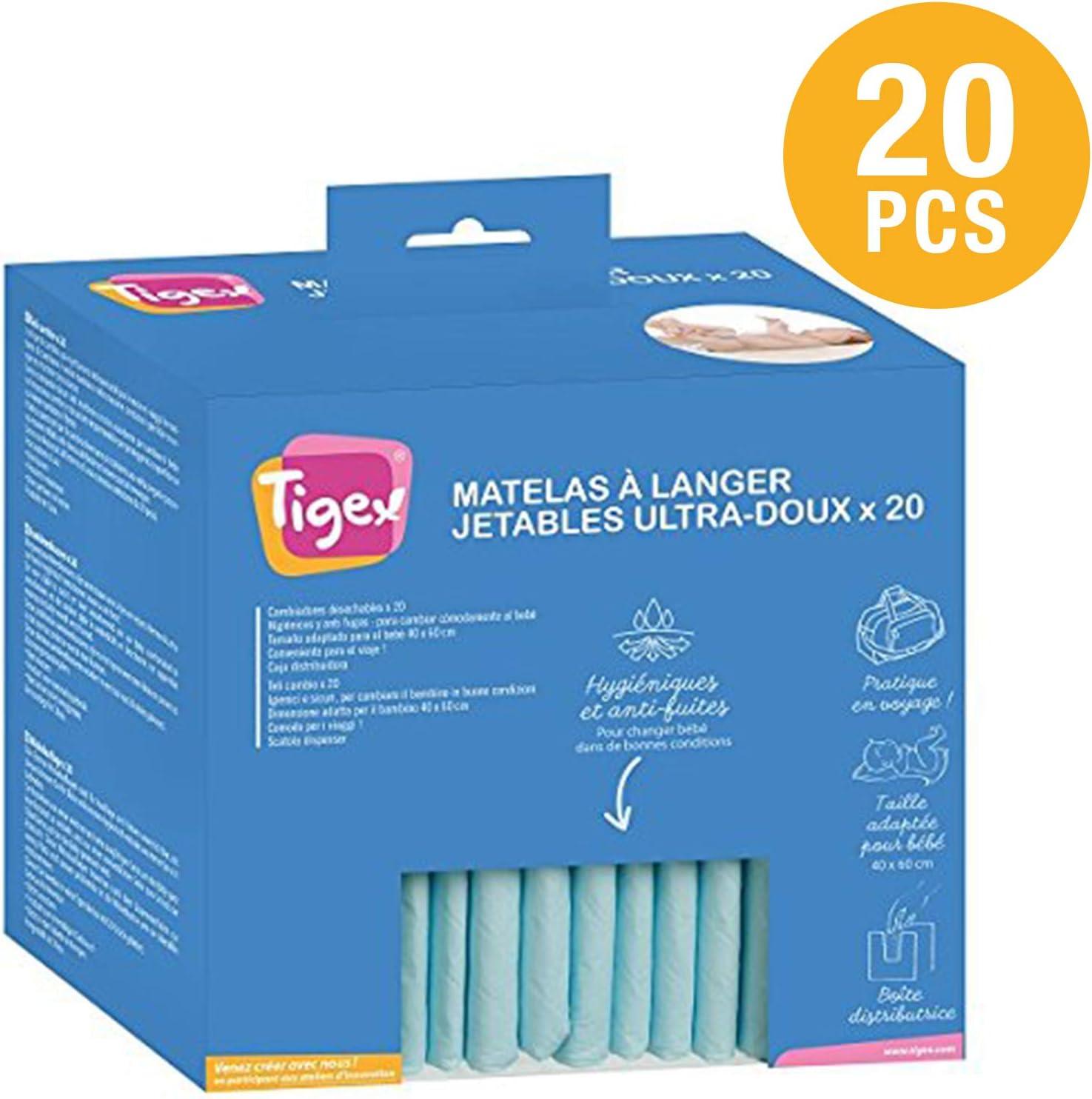 Tigex - Cambiador Desechable para Bebé - Pack 20 uds.