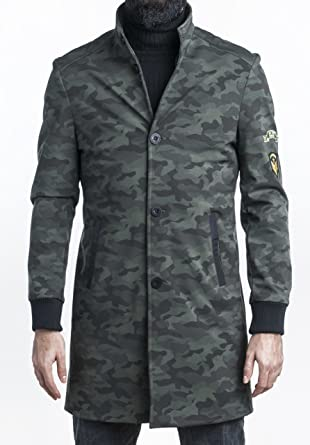 636e702f4e PLUSNINETY European Style Camouflage Fashion Slim Fit Coat Jacket for Men  Multicoloured (Small)