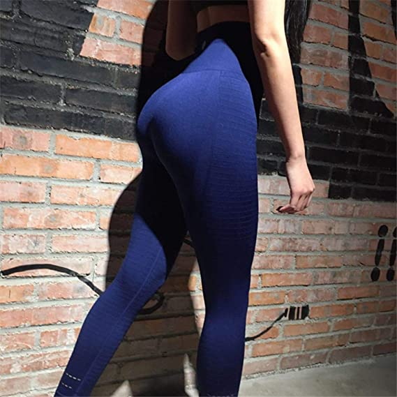 75ecec42a1 Amazon.com: Women's Butt Lift Sport Leggings Hollow Out Fitness Gym  Leggings Seamless Slim Compression Squat Tig: Clothing