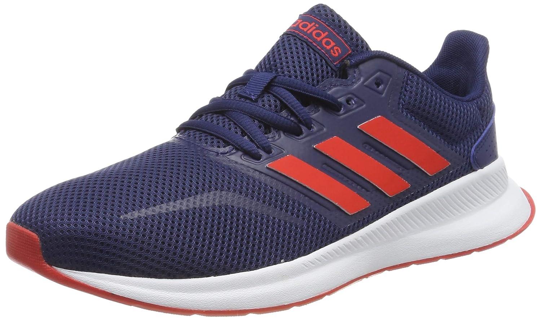 Boys UK 10 Dark Blue//Active Red//Black adidas Run Falcon K Shoes