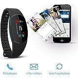 iposible Fitness Armband Uhr mit Pulsmesser, Fitness Tracker Blutdruckmesser Aktivitätstracker Wasserdicht Schrittzähler Herzfrequenzmonitor Pulsuhr Schlafmonitor GPS für Damen Herren Kinder