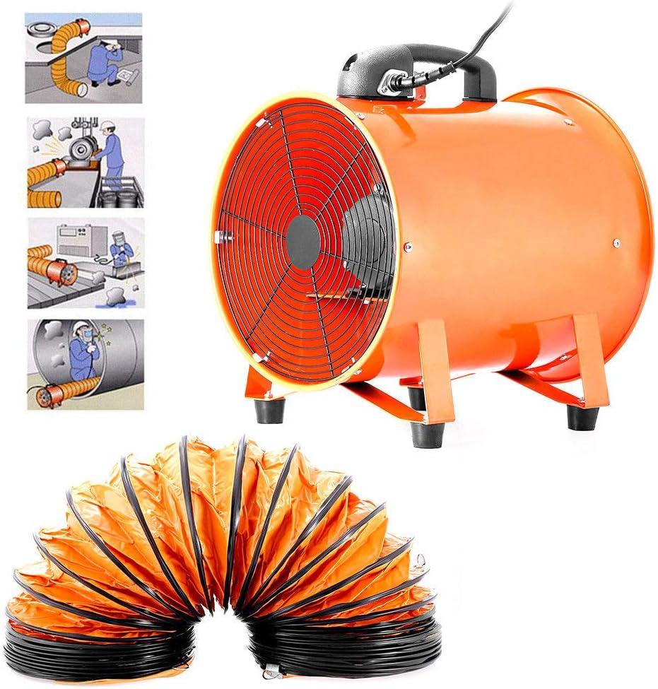 Ventilador Extractor Portátil Axial apuntador taller extractor ventilador taller 300mm 5m con Conduit