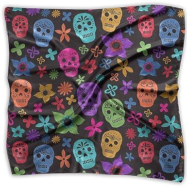 f7b88621d26b Handkerchiefs Scarf Halloween Wallpaper Skull Novelty Shawl Bandanas ...