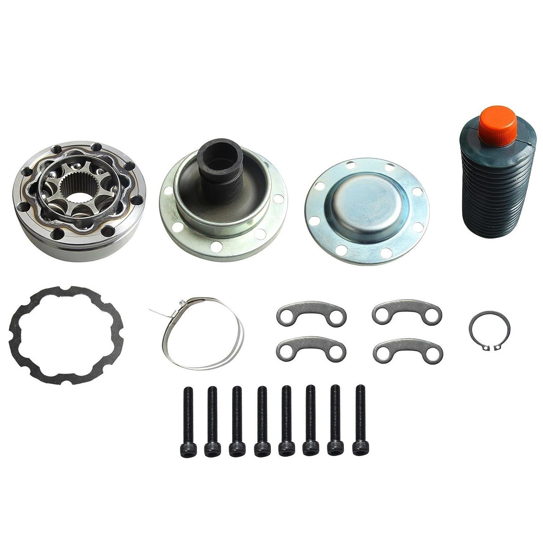 BLACKHORSE-Racing Front Prop/Drive Shaft Fixed-End CV Joint Repair Kit for Jeep JK Wrangler blackhorseracing