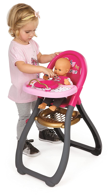 Smoby 220315 Baby Nurse Zwillingspuppen Hochstuhl