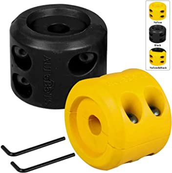 Winch Cable Stopper Black Rubber Line Stop Hook Saver with Allen Wrench for ATV UTV Winches