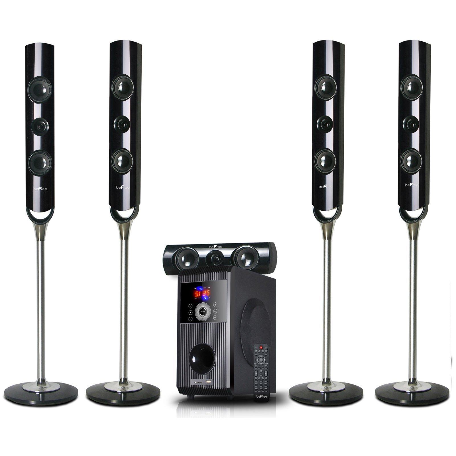 beFree Sound BFS-900 5.1 Channel Surround Sound Bluetooth Speaker System by beFree Sound