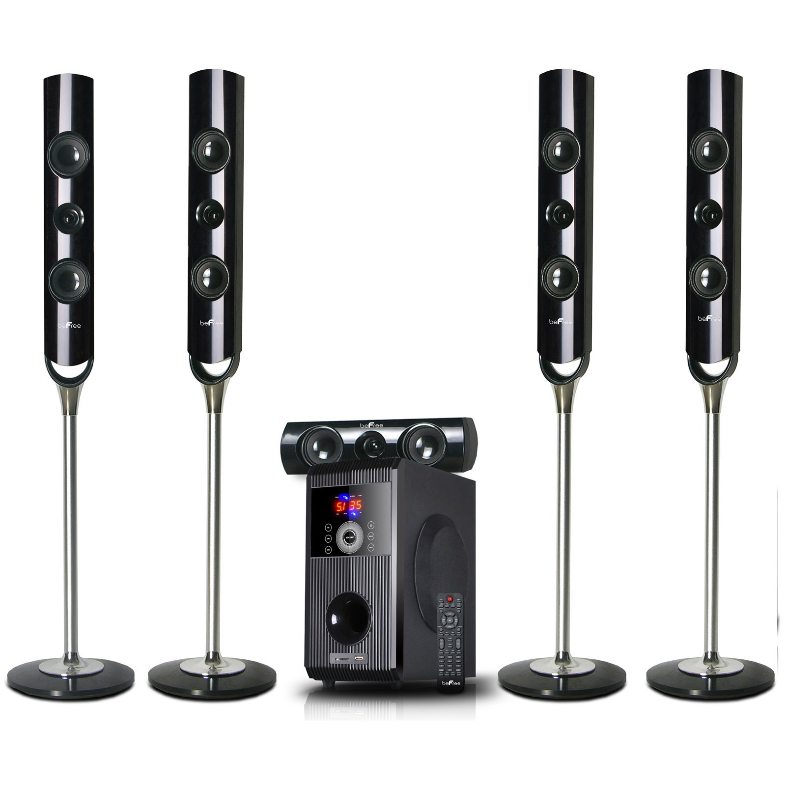 beFree Sound BFS-900 5.1 Channel Surround Sound Bluetooth Speaker System by BEFREE SOUND