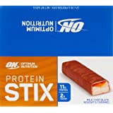 Optimum Nutrition Protein Stix Bars Nougat Caramel, 35 Grams, 12 Pack Protein Bars
