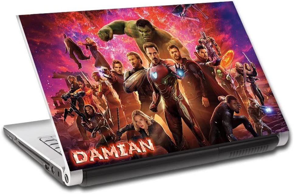 """Avengers Infinity War Marvel Personalized LAPTOP Skin Cover Decal Sticker L772, 14"""""""