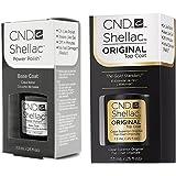 CND Shellac SET Gel UV Vernis à Ongles: Base & Top Coat a 7.3ml