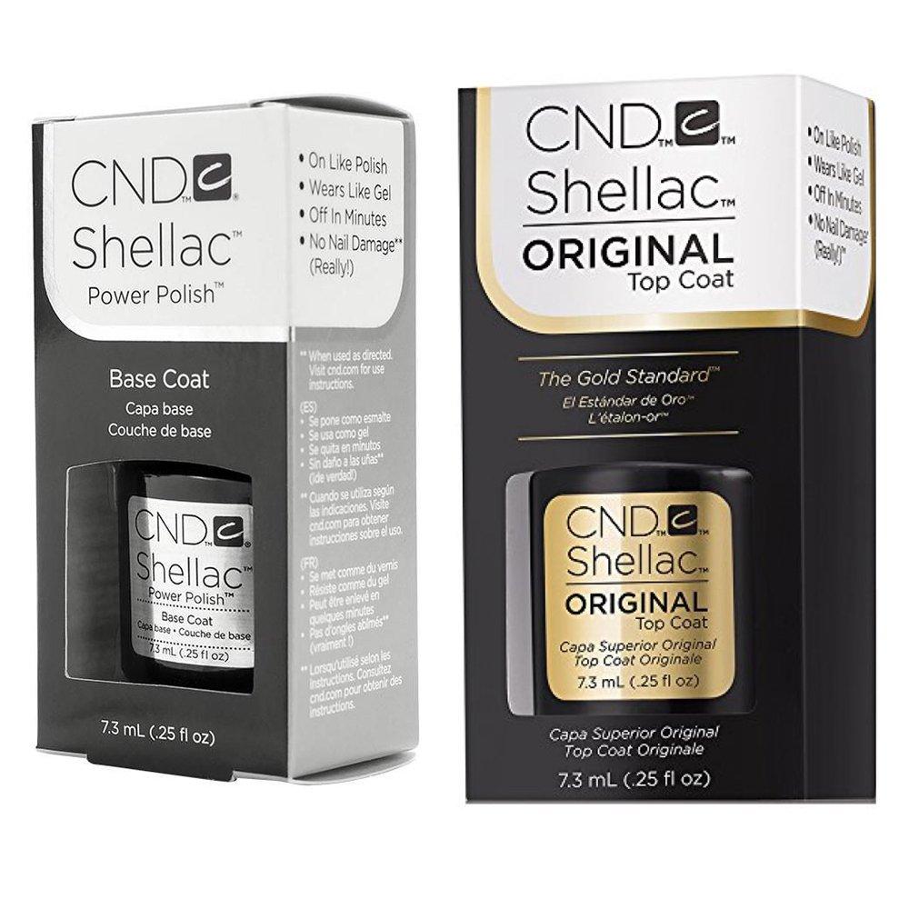 CND Original Shellac Base Coat plus Top Coat (2 x 7.3 ml): Amazon.de ...