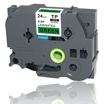 TZ-751 Black on Green Label Tape 24mm 8m Compatible to Brother P-touch TZe-751