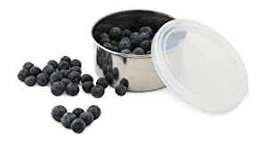 U Konserve - Stainless Steel Food Container, Pack in Lunches, Picnics and Travel, Perfect for Fruit Salad, Cut Veggies, Pasta Salad and More, Dishwasher Safe (Medium, Clear)