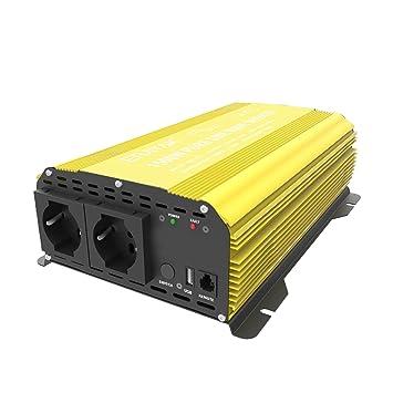 2000w Power Inverter Auto Onda Sinusoidale Pura Dc 12v A Ac 220v Convertitore T~ Solarenergie