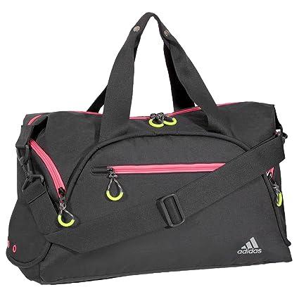 Amazon.com  adidas Fearless Club Bag Duffel Bag Black Bahia Pink One ... 8783c7daffc07