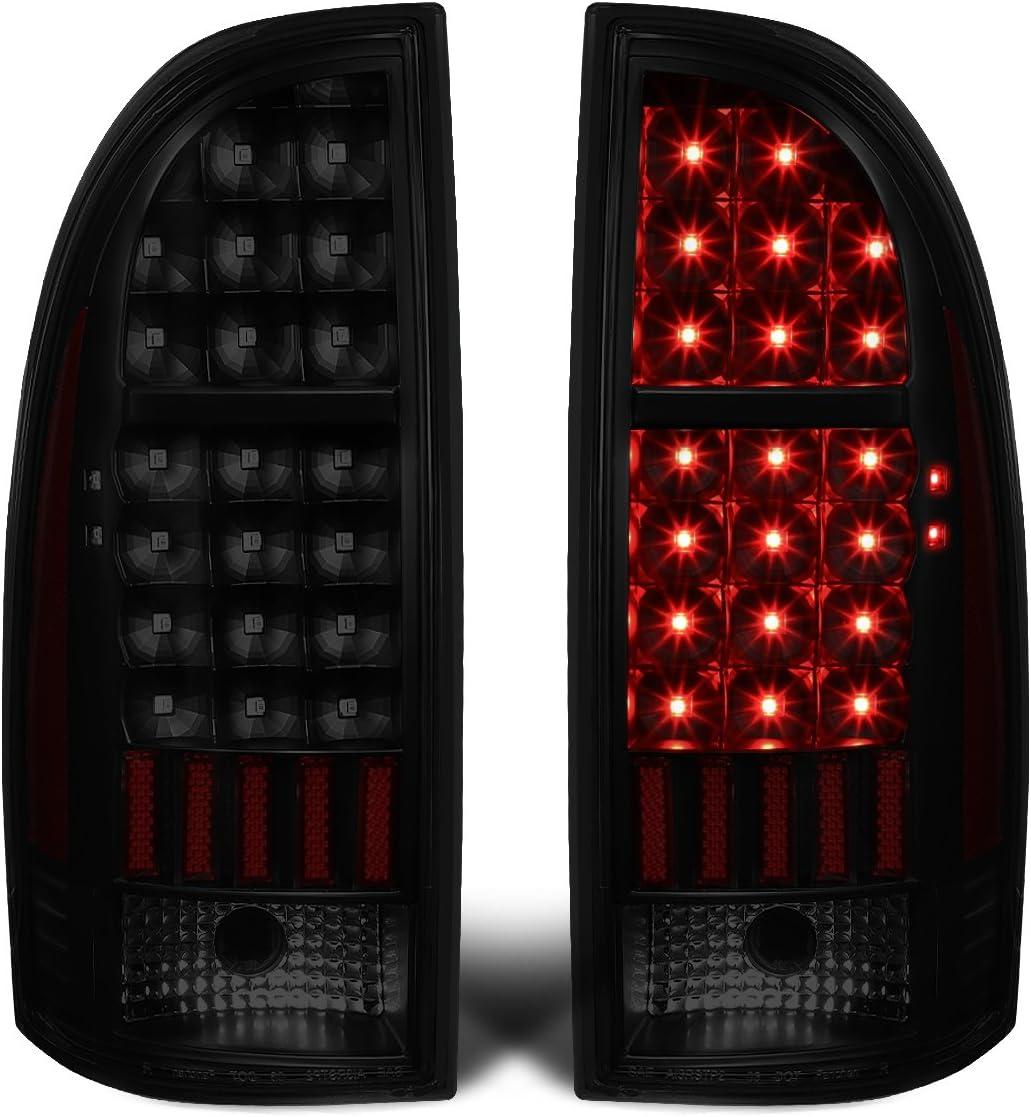 DNA Motoring TL-TTAC05-LED-RD3D-BK-CL Pair Red 3D LED Bar Tail Light Black For 05-15 Tacoma