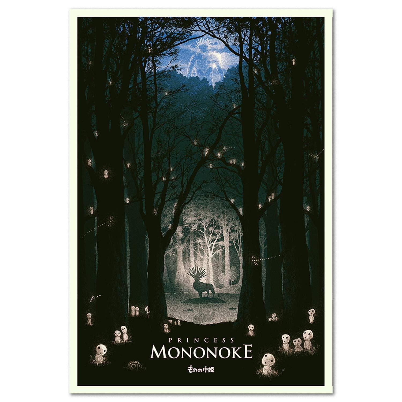 Printing Pira - Princess Mononoke Movie Studio Ghibli Poster (24x36)
