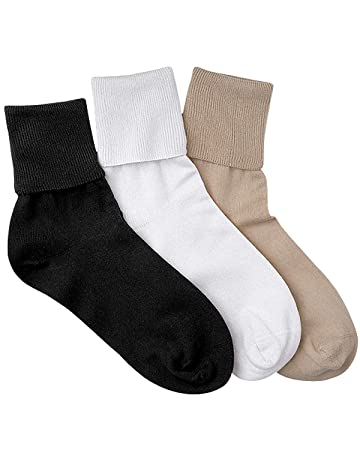authentic online store exclusive deals Buster Brown Women's 100% Cotton Socks, Assorted 1, 9, 3-pk