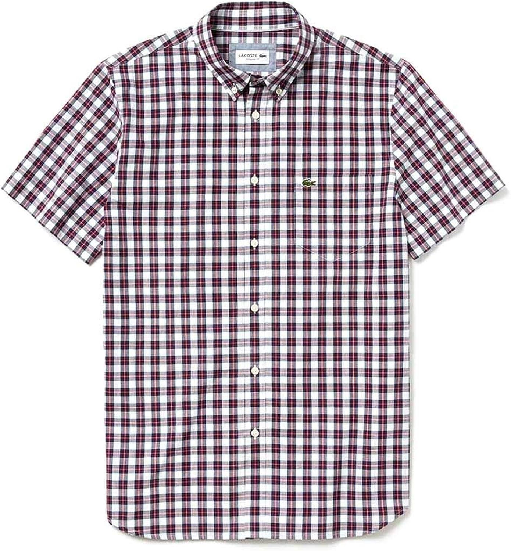 Lacoste Camisa CH5647 Multicolor Hombre 42 Multicolor: Amazon.es: Ropa y accesorios