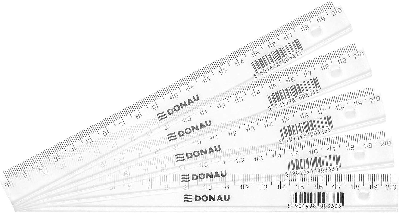 transparente Danubio 7052901pl de 00/Regla con orificio 20/cm