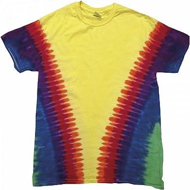 Colortone - Camiseta psicodélica Modelo Cremallera de Manga ...