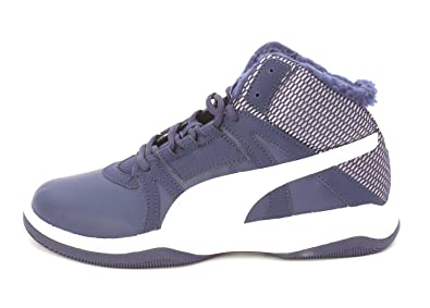 fdabc5125ed PUMA Mens Rebound Street Evo Fur Blue Mid Basketball Walking Sneaker Shoes  (10)
