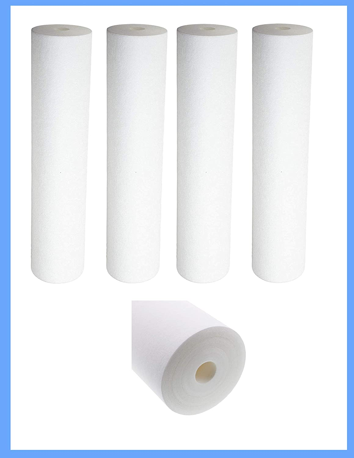 Compatible for American Plumber WPD-110 Whole House Sediment Filter Cartridge (4-Pack) by CFS