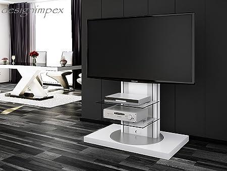 Mesa de Televisión H de 777 giratorio blanco brillante TV Muebles TV Rack LCD Incluye soporte de TV: Amazon.es: Hogar