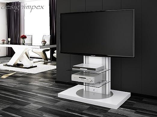 Mesa de Televisión H de 777 giratorio blanco brillante TV Muebles ...