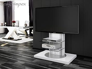 Tv rack drehbar  Fernsehtisch H-777 Weiß Hochglanz drehbar TV Möbel TV Rack LCD ...