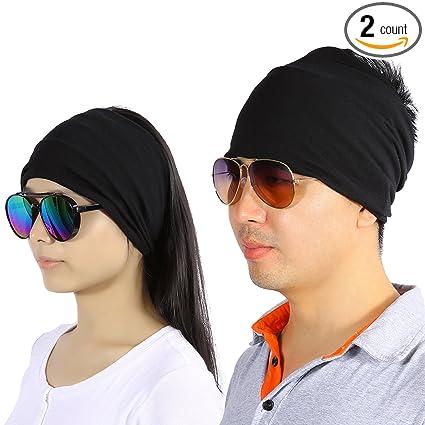 5f26f302c45a Men Women Wide Bandana Headband Sweatband Wrap Looking Head Hair Band for  Fashion Yoga Running Exercise