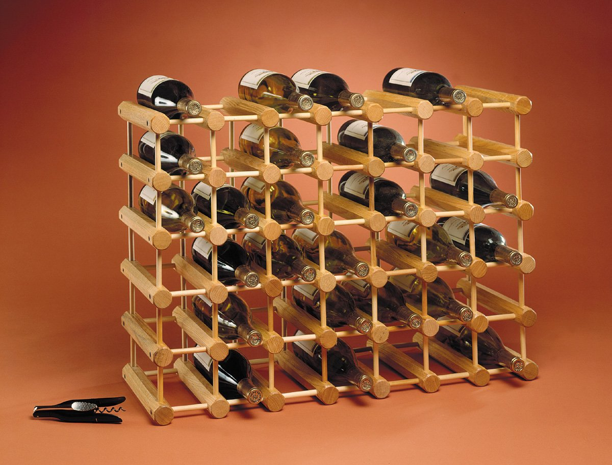 Amazoncom JK Adams Ash Wood 40 Bottle Wine Rack Natural Home