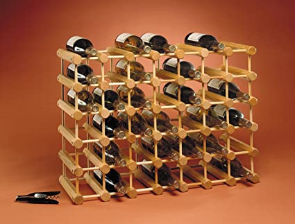 J K Adams Ash Wood 40 Bottle Wine Rack Natural