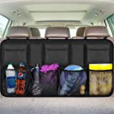 Backseat Trunk Organizer for SUV & Car Hanging Organizer Foldable Cargo Storage Bag with 9 Pockets Adjustable Strap…