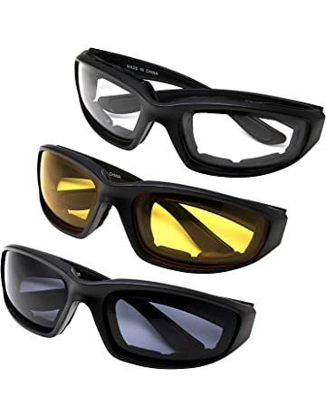 57c1c2c672 All Weather Protective Shatterproof Polycarbonate Motorcycle Riding Goggle  Glasses 3 Pack Set Pouches NOT included (