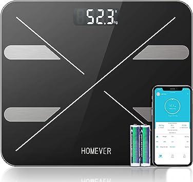 Masse Musculaire 180kg//400lb//28st Osseuse Homever Balance Connect/ée Smartphone APP avec 13 Donn/ées physiques Balance Pese Personne P/èse Personne Imp/édancem/ètre Analyse Graisse
