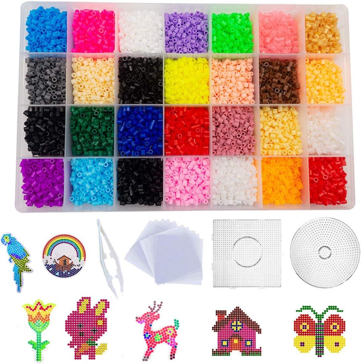shafier 11120 PCS Perler Beads 28 Colores Fuse Beads para Niños y Adulto DIY Patrón Arte de Pared pixelado en 2D Juguetes Educativos Cuentas de Artesanía: Amazon.es: Juguetes y juegos