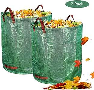 OldPAPA Bolsas de jardín - Bolsas de Hoja de 272L Bolsas de Jardinería Reutilizables Bolsas Plegables de Jardín y Contenedores de Bolsas de Jardín: Amazon.es: Jardín