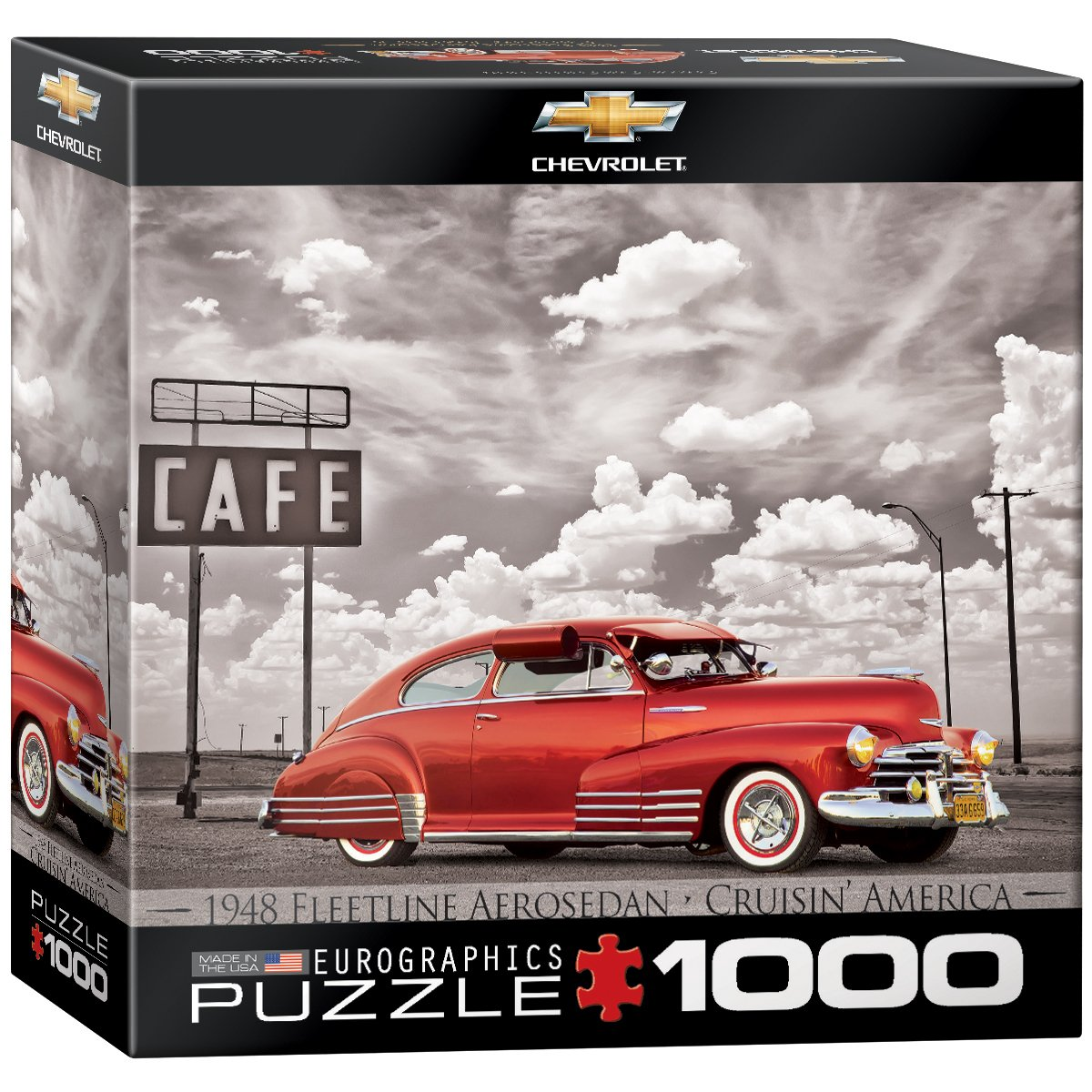 Small Box EuroGraphics 1948 Chevrolet Fleetline Aerosedan Jigsaw Puzzle 1000-Piece